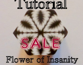 Polymer Clay Cane Tutorial - TUTORIAL - The Flower of Insanity