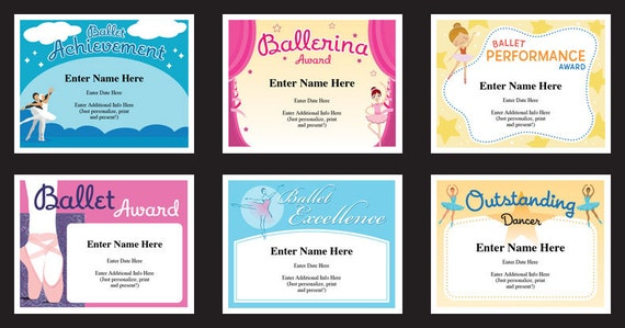 Ballet certificate pack dancing awards dance team ballet certificate pack dancing awards dance team printables child certificates ballet templates ballet certificates ballet mom yadclub Image collections
