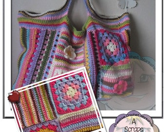 PDF Instant Download Crochet Pattern - Scrapalicious Bag