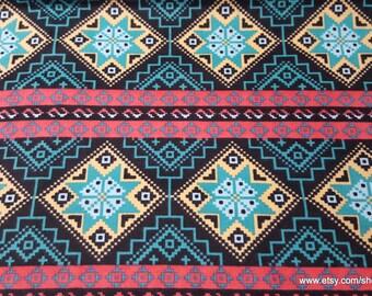 Flannel Fabric - Southwestern Aztec Stripe - By the yard - 100% Cotton Flannel