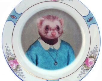Juliet Ferret School Portrait Plate 6.15""