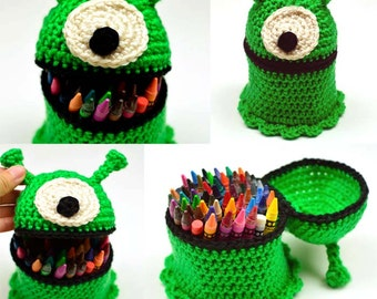 Alien Container - PDF Crochet Pattern - Instant Download