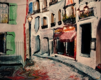 Day to Night - Paris Landscape Art Print