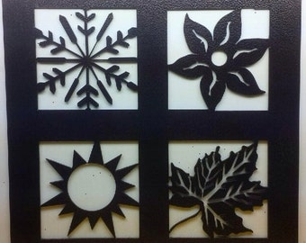 Winter, Spring, Summer and Fall Metal Wall Hanging - Home Decor - Wall Art