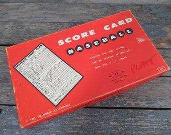 Baseball Board Game, Score Card Baseball, Vintage Game, Family Game Night, Party Game