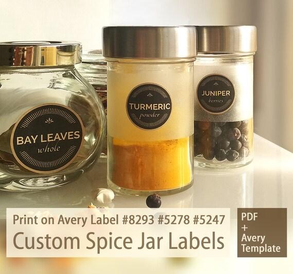 printable custom 15 1 inch spice jar labels pdf maxwellsz