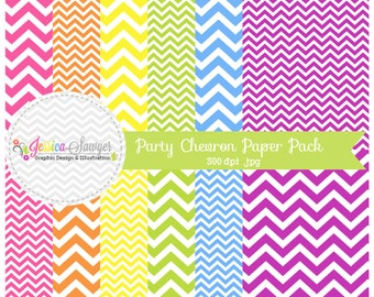 INSTANT DOWNLOAD - chevron digital paper pack, zig zag background, chevron printable papers for inviations, web design, scrapbook