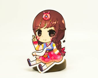 Hanbok D.va Stickers and Magnet Overwatch Year of the rooster.Chinese new year skin
