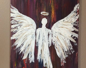 Acrylic painting of an Angel