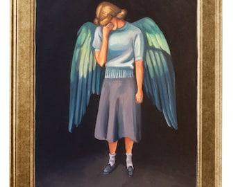 Art print of oil painting - Angel - DINA4