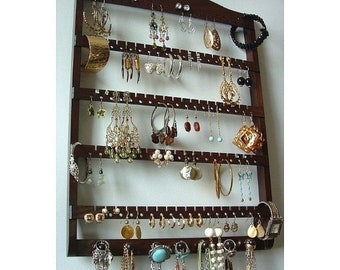 Wood jewelry holder Etsy