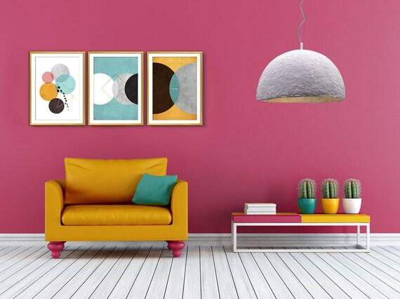 Wall art Print Set Abstract art Bedroom wall art Set of 3