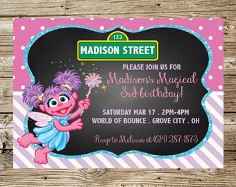 Abby Cadabby Birthday Invitation