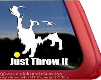 Just Throw It | DC297SP2 | High Quality Adhesive Vinyl Springer Spaniel Window Decal Sticker