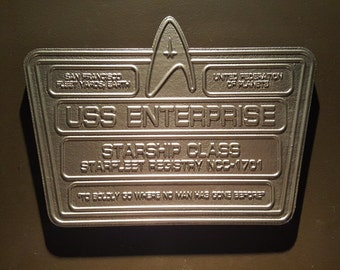 Star Trek USS Enterprise Dedication plaque replica from new series