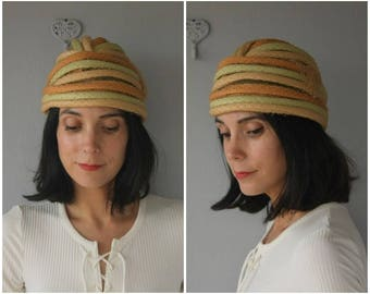 Vintage 1960s Christian Dior Turban | Christian Dior Hat | Vintage Turban | Vintage Cloche | 1950s Christian Dior Hat