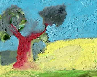 OLD OLIVE TREE - France Painting - Landscape Oil Painting - Elizabetha Fox