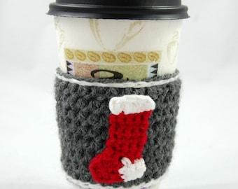 Christmas Stocking Coffee Cozy ~ Tea Cozie ~