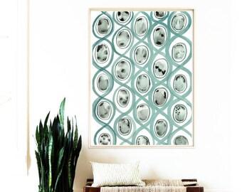Abstract Watercolor Print,Wall Art Prints,Blue and Grey Watercolor,Instant Download Printable Art,Modern Art Prints,Wall Decor,Watercolor
