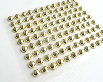 Half Pearl Stickers 6\8 mm  Gold Self Adhesive Decoration Cabochons Embellishment