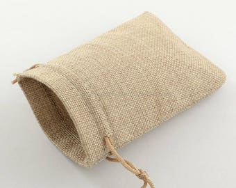Pockets in Burlap - 9.5x13cm or 13x18cm - 1/10/100 to choose