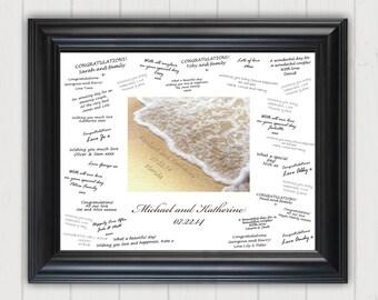 Wedding Guest Book Alternative, Wedding Signature Board, Wedding Signing Board, Beach Wedding, Personalized Signature Board, Guestbook Cover