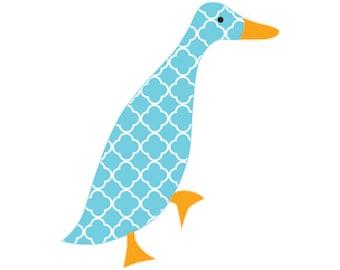 Walking Duck applique template | PDF applique pattern | applique template