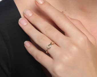 Infinity 14k Solid Gold Ring