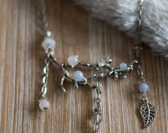 Necklace branch * ice antlers *-chain, branches, snow queen, winter, pagan, fairytale, magical, fantasy, elven, lord of the rings, ice