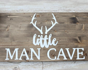 Rustic Man Cave Sign : Nursery decor little man cave rustic home deer