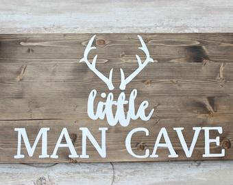 Woodland Nursery Decor, Hunting Nursery Wall Art, Little Man Wooden Sign, Rustic Nursery Wall Decor, Rustic Wall Hanging, Little Man Cave,