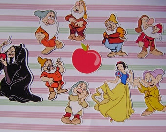 Set of 10 die cuts embellishments scrapbooking snow white theme push cuts