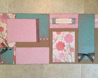"12x12 Homemade Premade 2-Page Scrapbooking Layout ""Dream"""