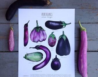 Eggplant Print (white cardstock)