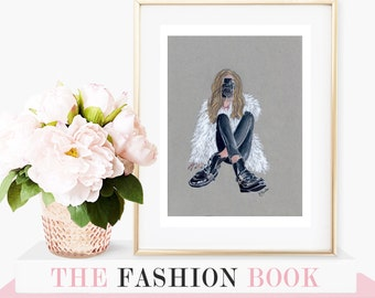 """Perspective à laMode - 8""""x10"""" - Various Sizes - Wall Art- Photography Art - Feather Jacket -Fashionista - Camera Art - Brunette the Label"""