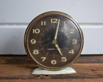 Vintage Westclox Nightstand Desktop Retro Midcentury Alarm Clock