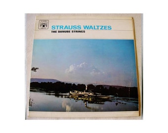 Strauss Waltzes Vinyl record The Danube Strings 1966 Vinyl 12 inch Album Rare LP record 1960s music symphony orchestra classical (X)