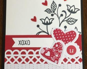 Stampin' Up Valentine Greeting Card
