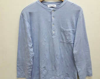 Sale!!! Vintage YSL tee Shirts Long sleeve Medium Yves Saint Laurent