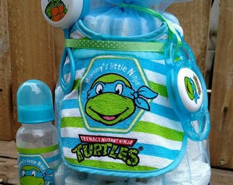 Superb Blue Leonardo TMNT Teenage Mutant Ninja Turtles Baby Boy Diaper Cake. Gift! Baby  Shower