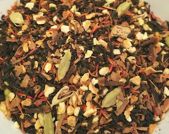 Orange Spice - Organic Herbal Tea blend, Fall Blend, Autumn, Warm, Chai, Spice Blend, Orange, Cinnamon, Safflower, Cardamom