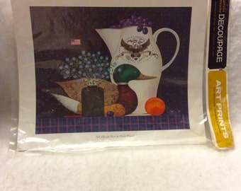 Patricia Nimrocks vintage Art Print Decoupage transfer Charles Wysocki