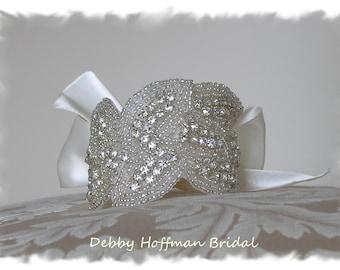 Bridal Cuff Bracelet, Bridal Cuff, Wedding Bracelet, Wedding Cuff Bracelet, Rhinestone Cuff Bracelet, Bridal Party Cuff, Gift, No. 3020CB