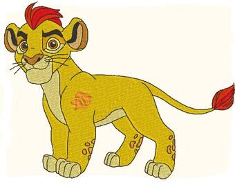 Kion profil (la Garde du Roi Lion) - motif de broderie