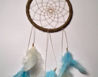 Dream catcher, Dreamcatcher, boho decoration, bohemian decoration, new home gift, new baby gift, blue dream catcher, Christmas gift,
