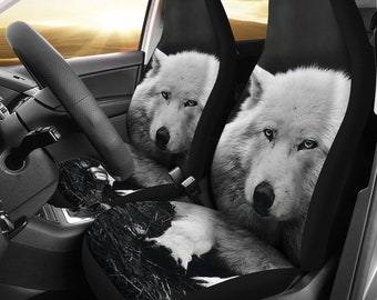 Wolf Husky Designed Car Seat Covers