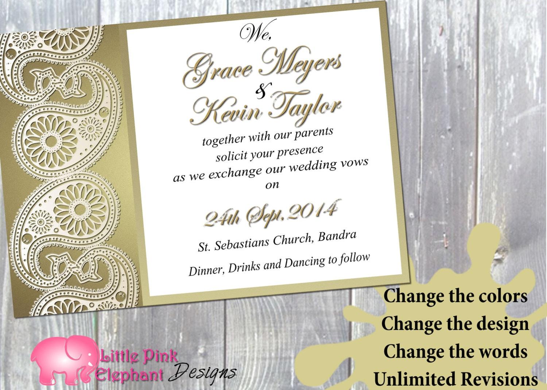 Indian invitation Mehndi invitations Mehndi party