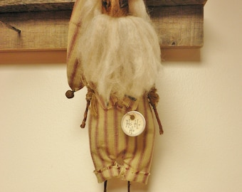 Santa Ornament, Primitive Santa Dolls, Christmas Decor