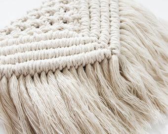Macrame Bag | Macrame Clutch | Macrame Purse | Fringe Bag | Boho Bag | Boho Chic