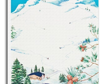 Colorado Ski Poster Travel Art Print Canvas Decor xr681
